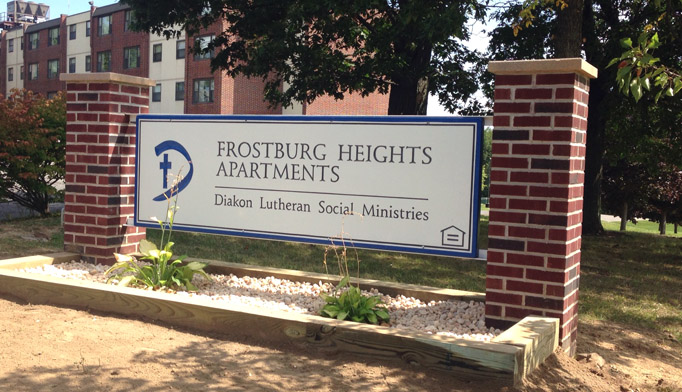 The Flight program-completed plant bed at Frostburg Heights Apartments.