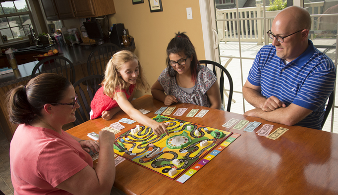The Uhler family members enjoy numerous activities together.