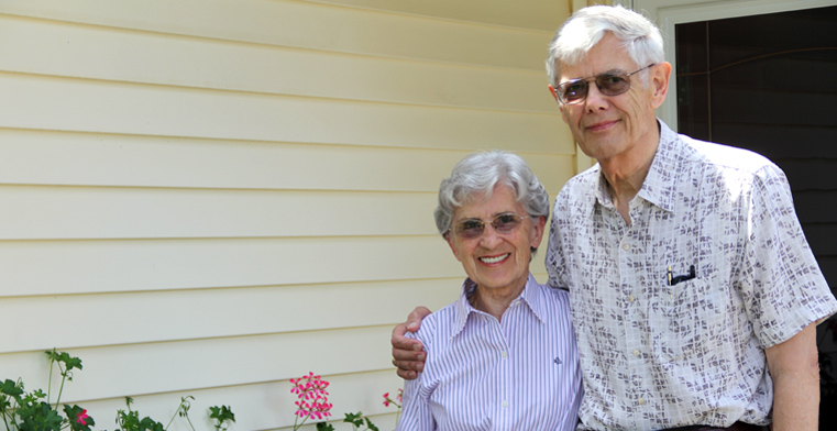 Brigitte and Chester Umlauf find the close proximity of their cottage-home at Diakon Senior Living – Hagerstown/The Robinwood Campus to family members and a variety of convenient services to be comforting.