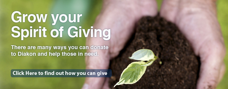 Give now through Diakon donations