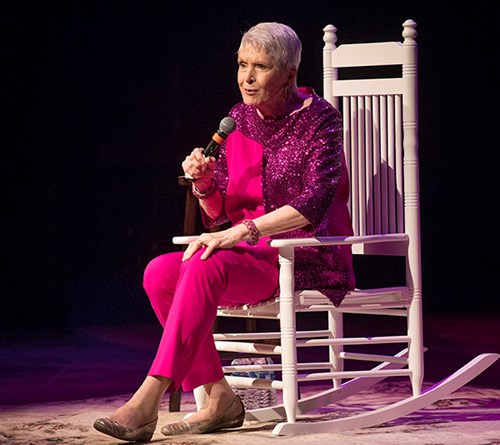 Jeanne Robertson on stage at York.